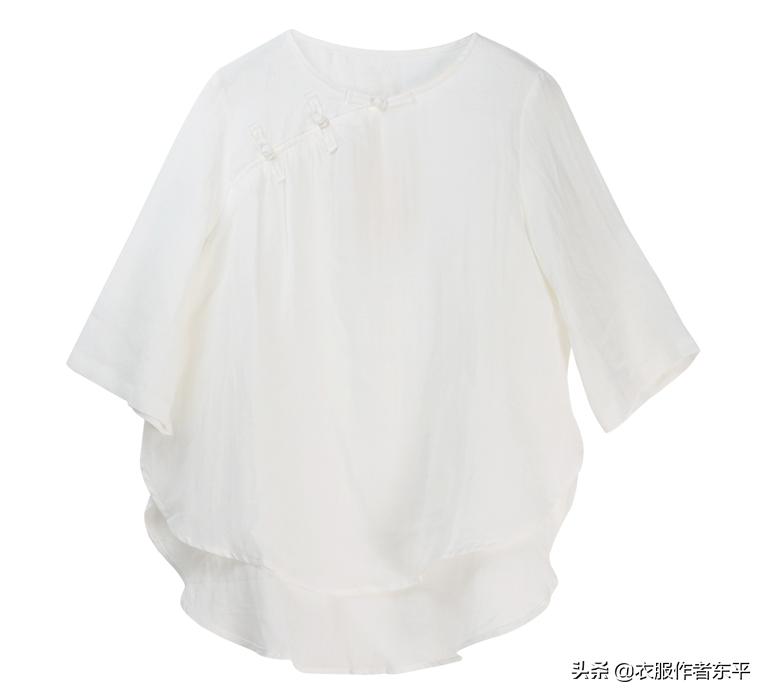 做一件特别的中国风白衬衣。我最爱这个侧缝的设计,独特舒服