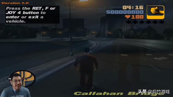 玩家将PC版《GTA3》搬到了Switch上,运行非常流畅