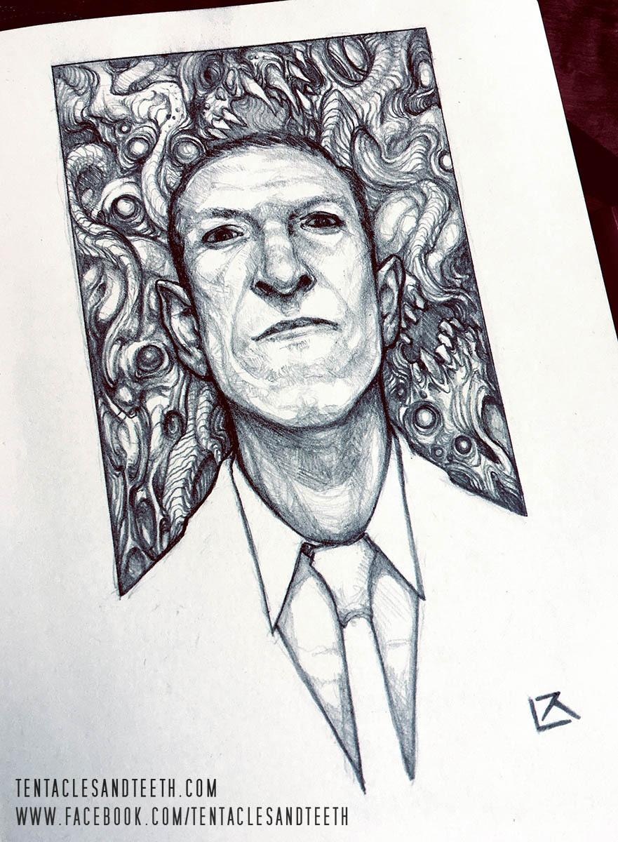 掉SAN画廊:最酷的克苏鲁铅笔画