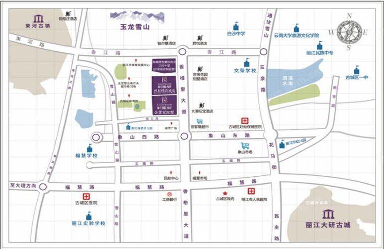 丽江别院区域图