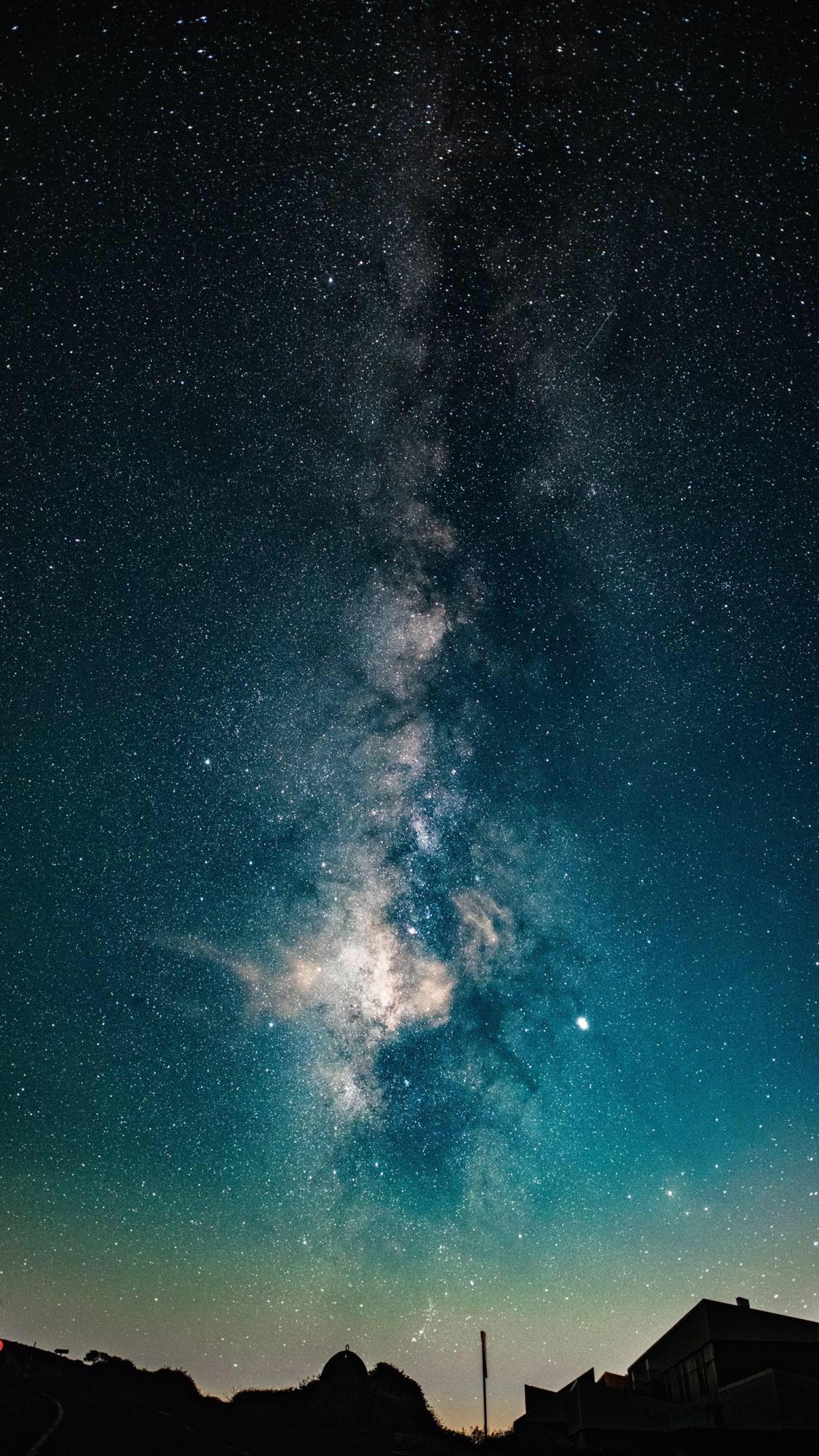 星空图片美到窒息的星空壁纸,夜晚那么美,你