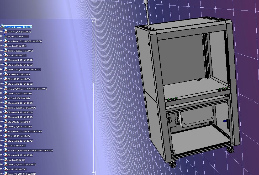 非标铝型材结构机架3D数模图纸 STEP格式