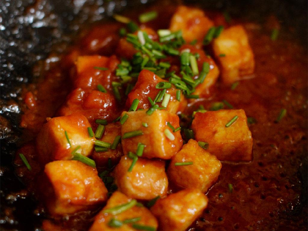 酸酸甜甜的茄汁脆皮豆腐,开胃下饭特别好吃,简单易做,一学就会 美食做法 第8张