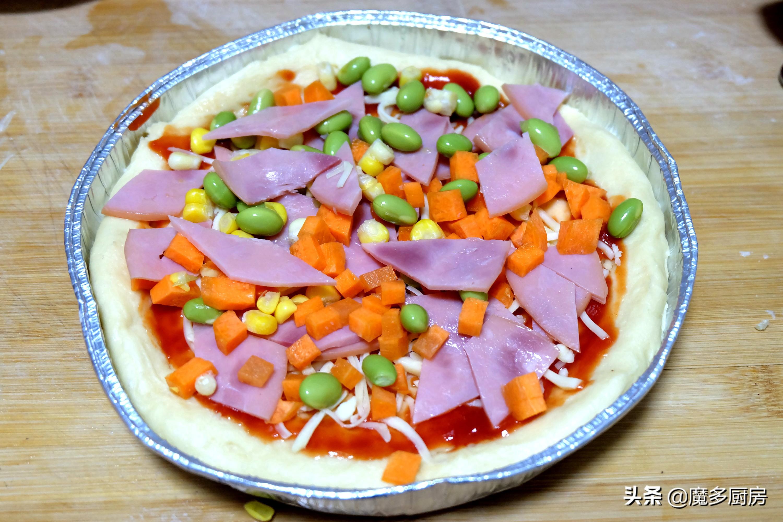 孩子要吃披萨,妈妈早起动手做,香软拉丝简单易做,油糖盐全省了