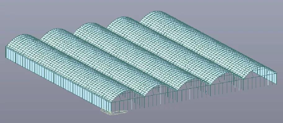輕簡型連棟塑料大棚結構設計及優化