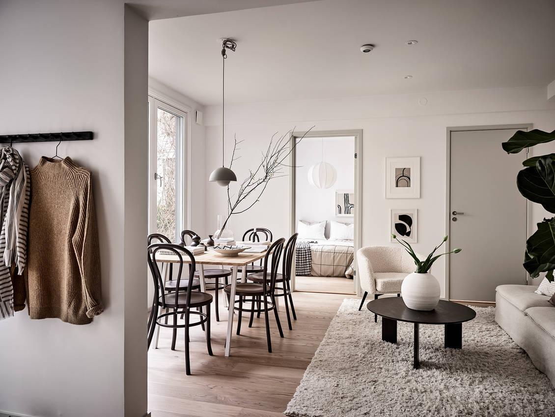 瑞典女主的45㎡獨居生活,全屋乾淨治癒,一個人越住越上癮