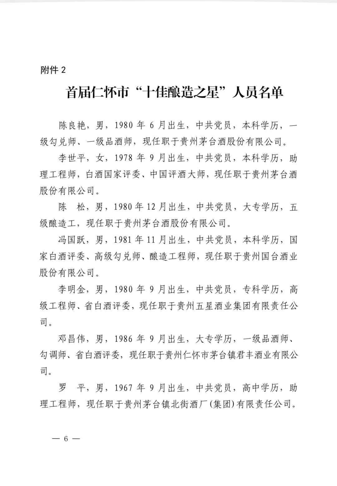 """仁怀市政府打造""""酱香酒匠酿造之星""""余方强等20人上榜"""
