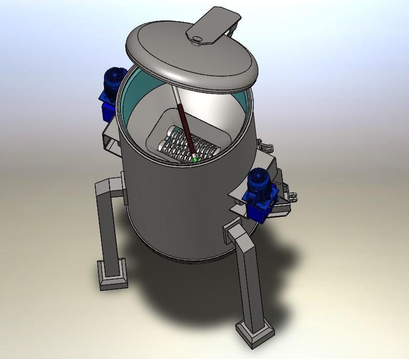 医疗垃圾粉碎机3D数模图纸 Solidworks设计