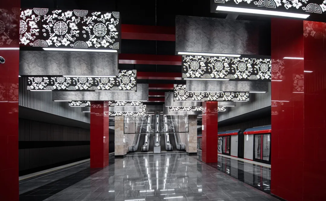 俄罗斯地铁走中国风,不少网友疯狂吐槽