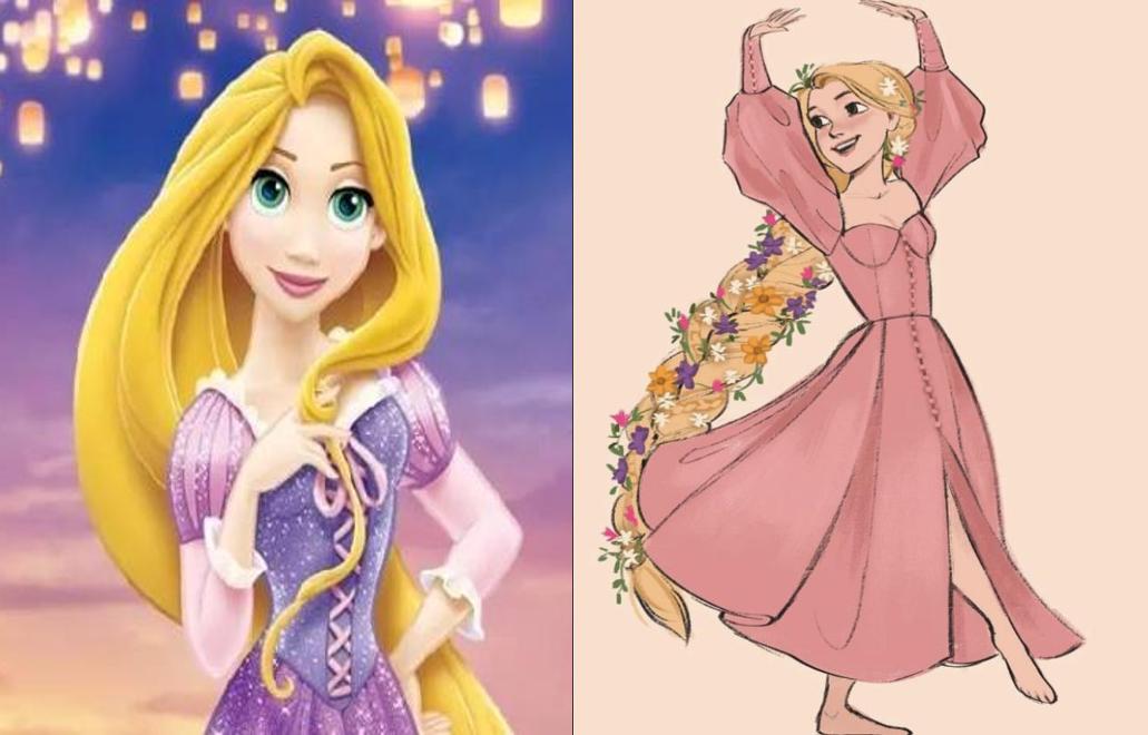 当迪士尼公主穿上晚礼服,艾莎公主很惊艳,木兰公主化身最美新娘