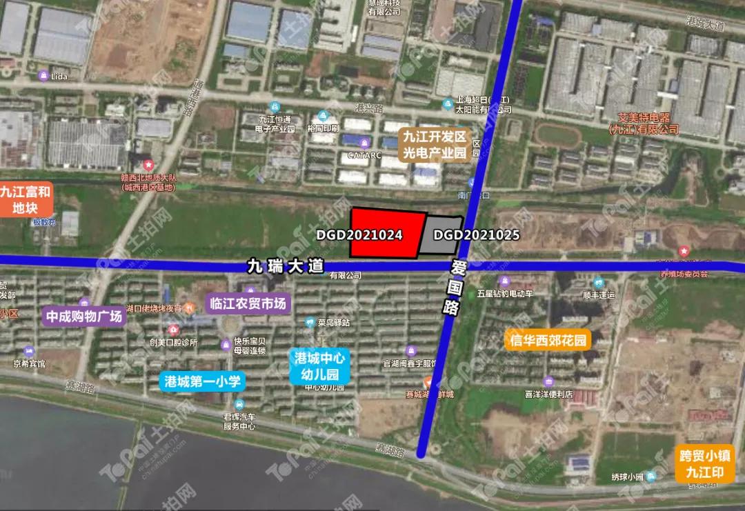 九江经开区核心板块再供地!107亩纯住宅用地4.94亿元起拍