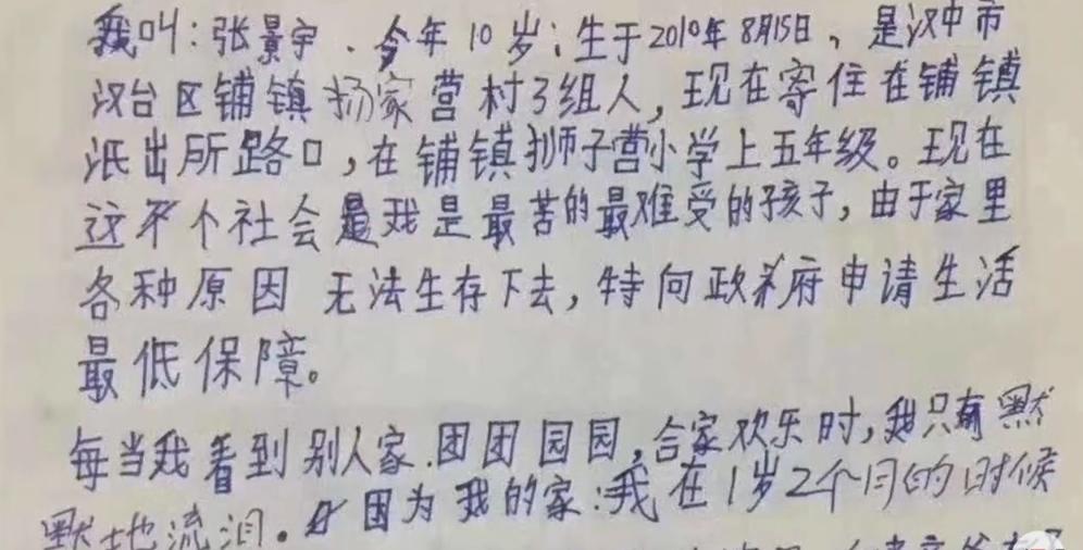 生孩子之前不考试,是悲剧和丑恶的根源,10岁男孩独居写信求助