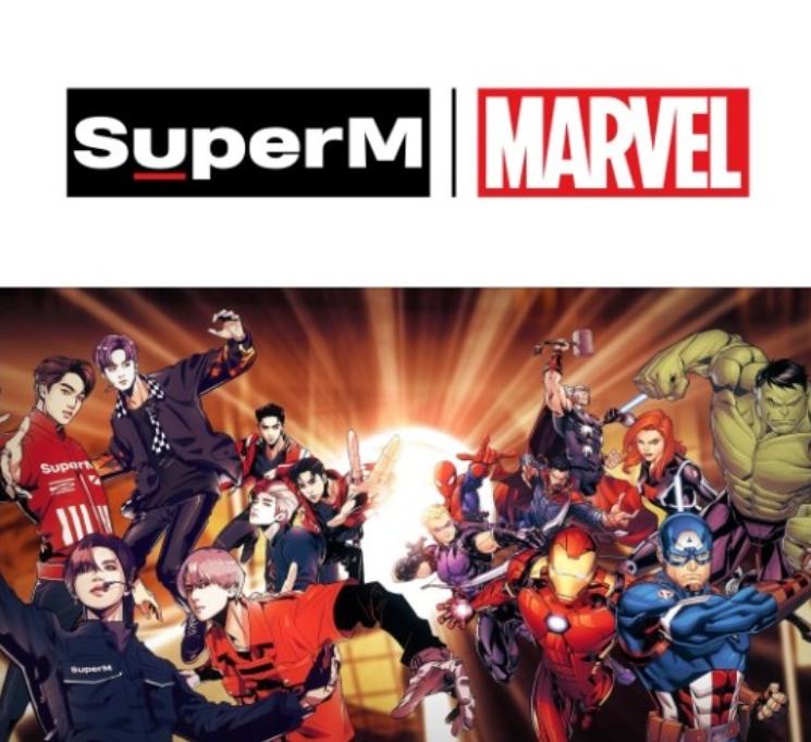SuperM獲得Billboard第二,漫威效果功不可沒