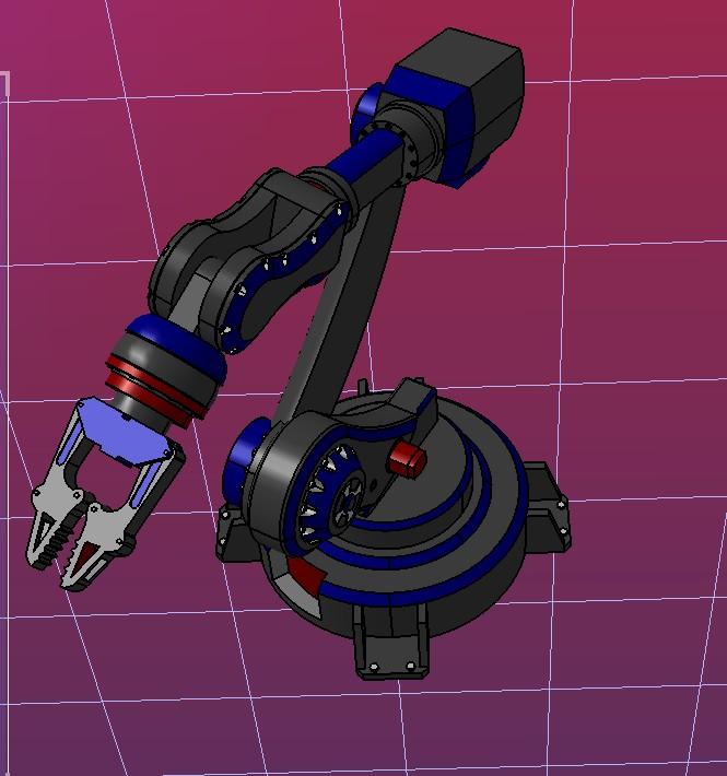 6Axis 简易六轴机器人造型3D图纸 STEP格式