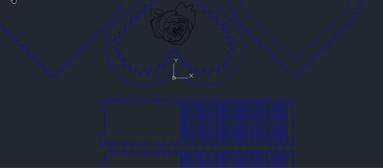 kalp sekilli心形储物盒激光切割图纸 dxf格式