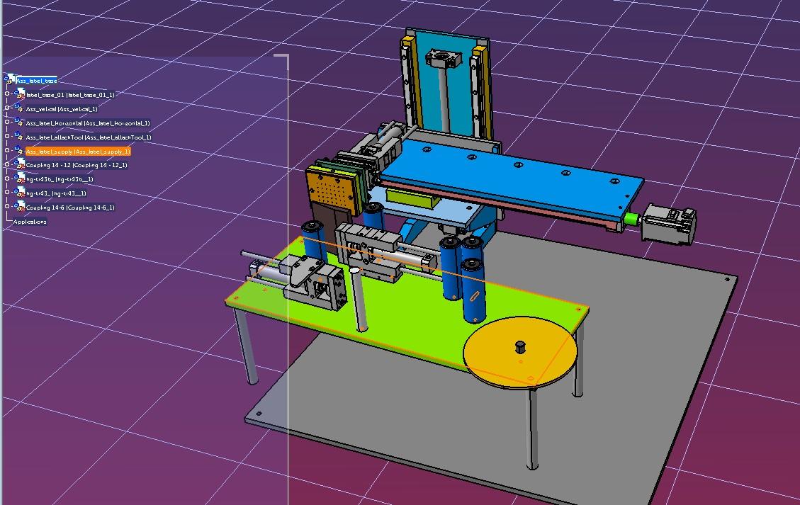 2轴贴标签机构3D图纸 STP格式