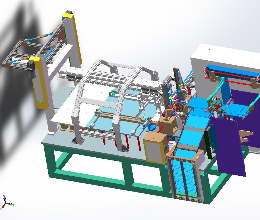 全自动水箱装配机3D数模图纸 x_t格式