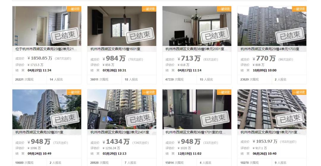 10.2万元/㎡!杭州一法拍学区房1850万成交,破了纪录