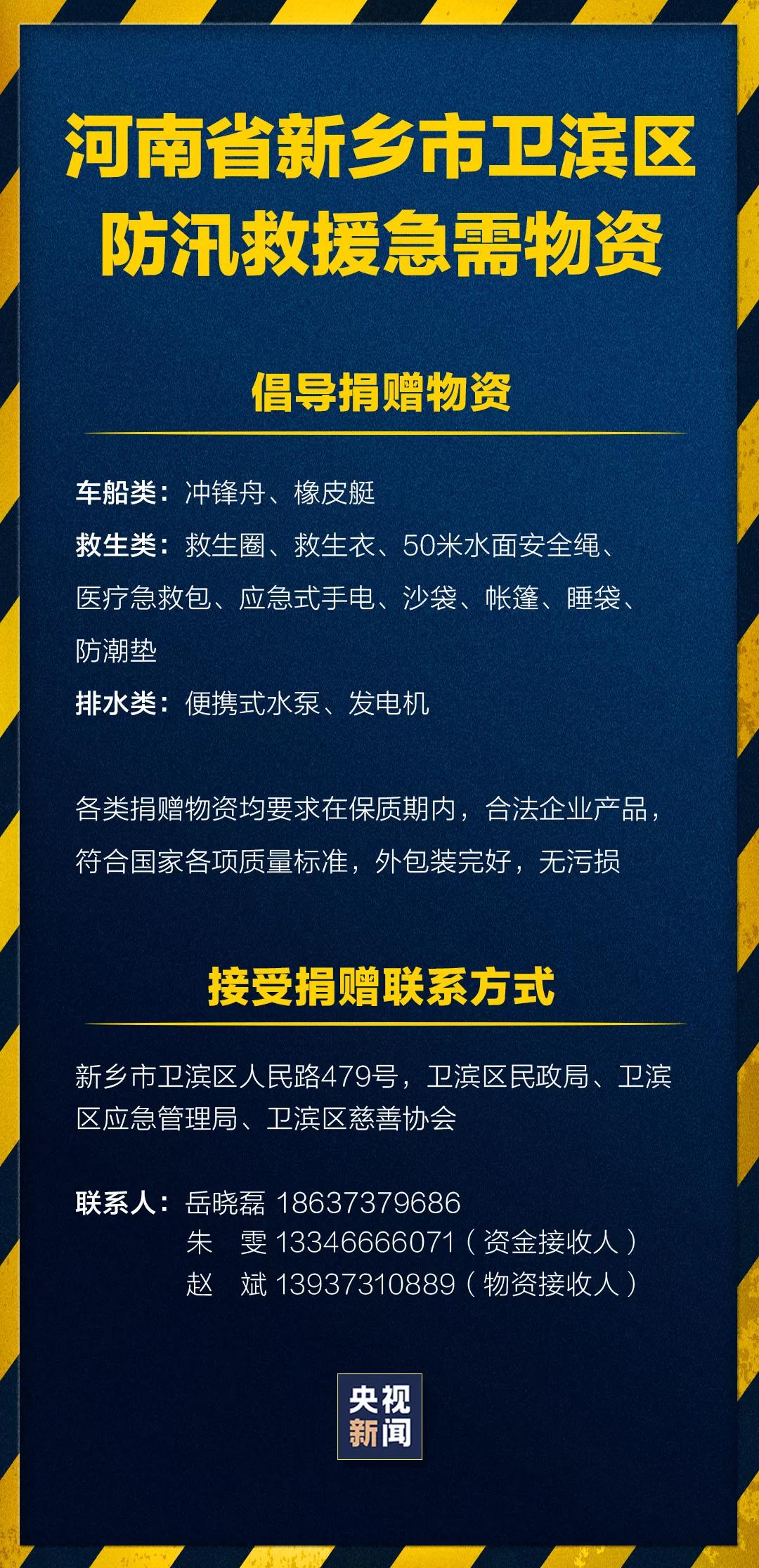 紧急扩散!河南新乡、鹤壁急需救援物资