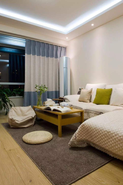 層高2米6,鄰居家客廳做35公分的單層邊吊,成本低也效果好看