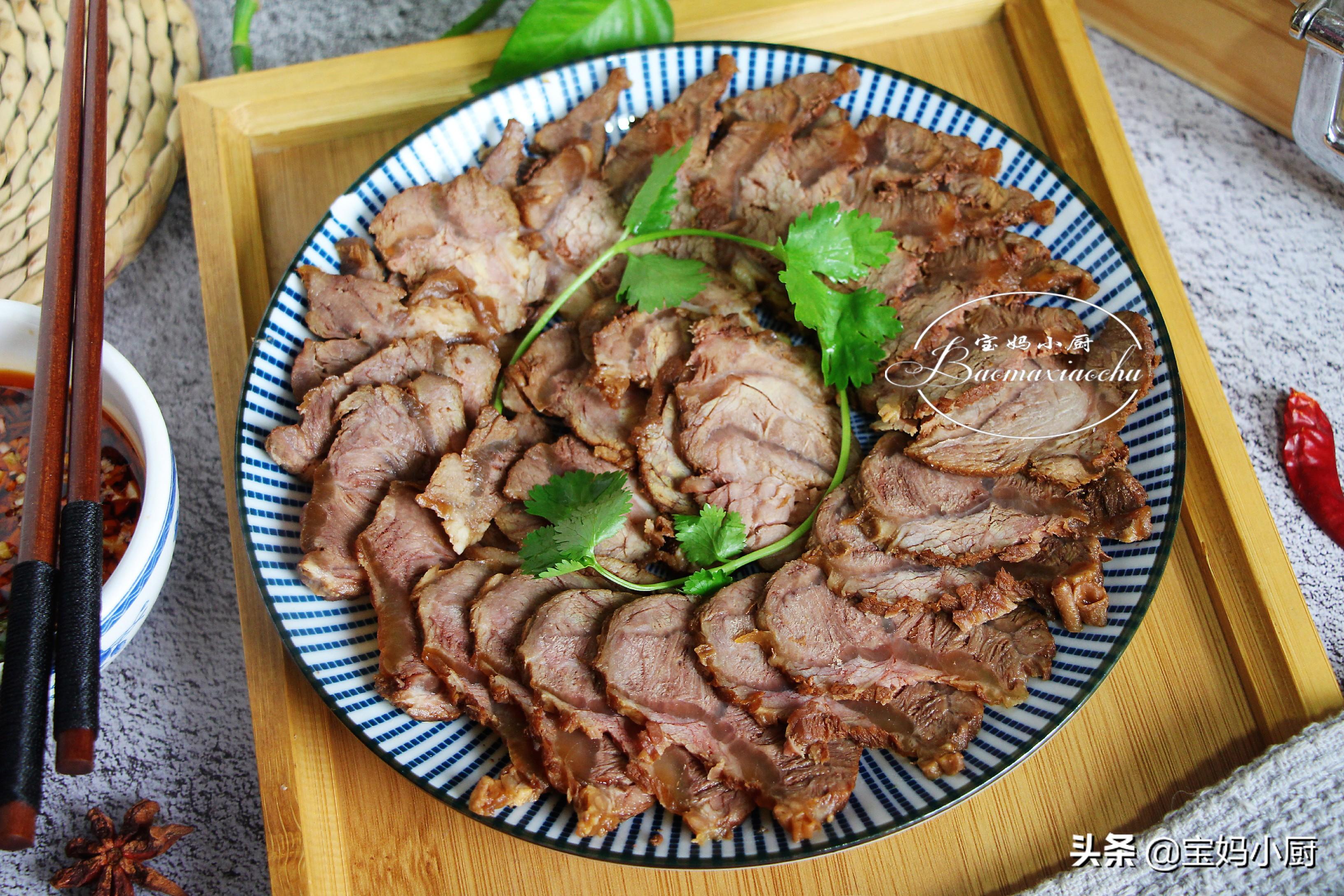 很靠譜的醬牛肉做法,年夜飯上每年必備,用料家常,電飯煲就搞定