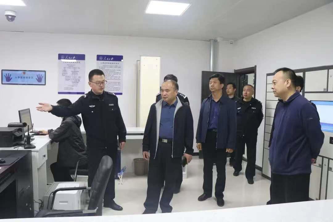 省厅法制总队领导莅临平乡县公安局调研指导执法办案管理中心建设