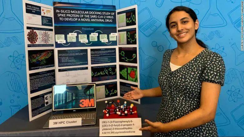 14岁印度裔女孩因新冠潜在疗法赢16万奖金,筛出病毒先导分子