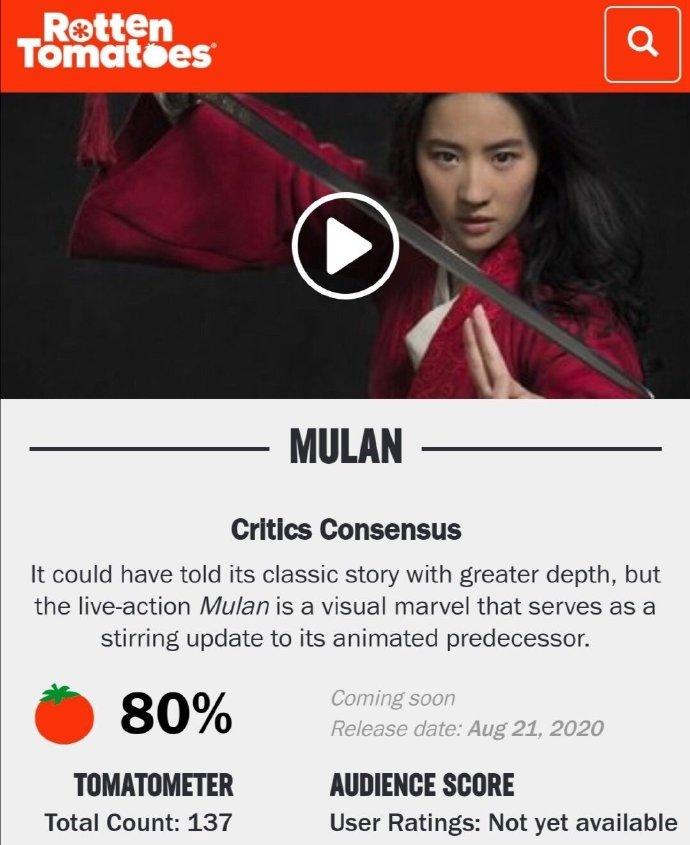 《花木兰》评分5.9,电影海报被批难看,女巫巩俐成失败角色?