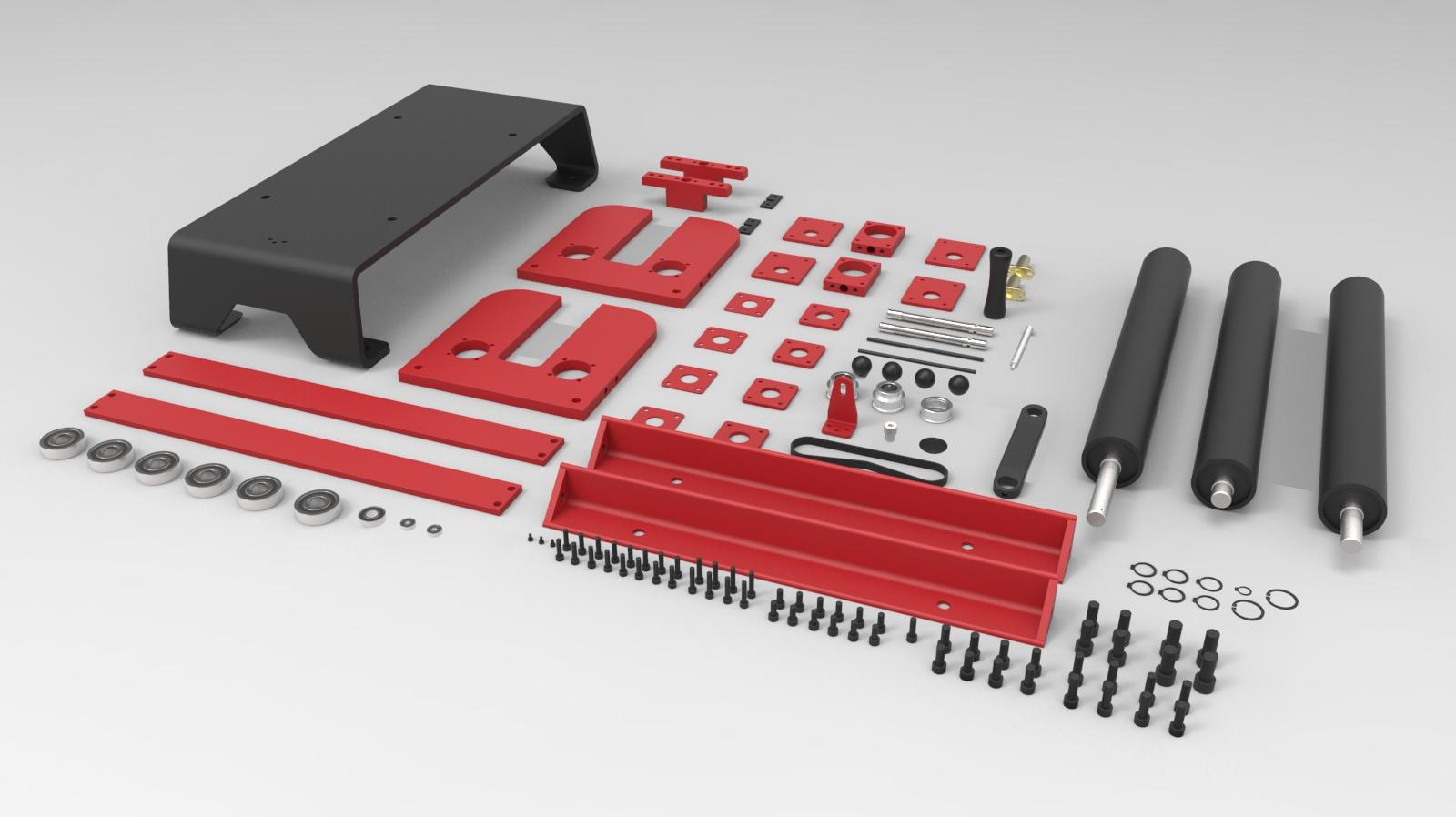 sheet metal rollers金属板辊设备3D图纸 STEP格式