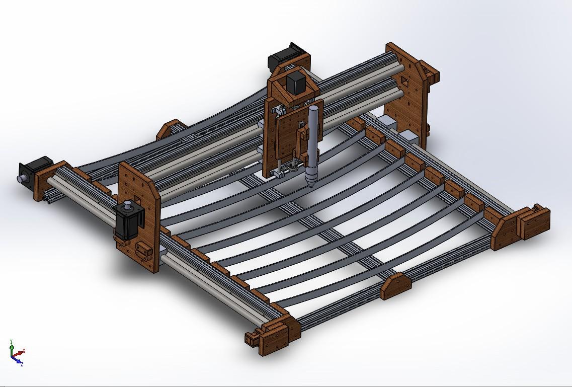 under 750等离子切割机结构3D图纸 Solidworks设计