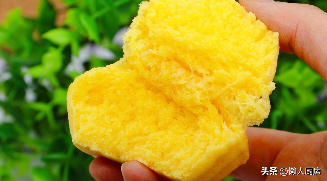 懶人蒸蛋糕,不需要分離蛋清蛋黃,香甜鬆軟,吃著不膩
