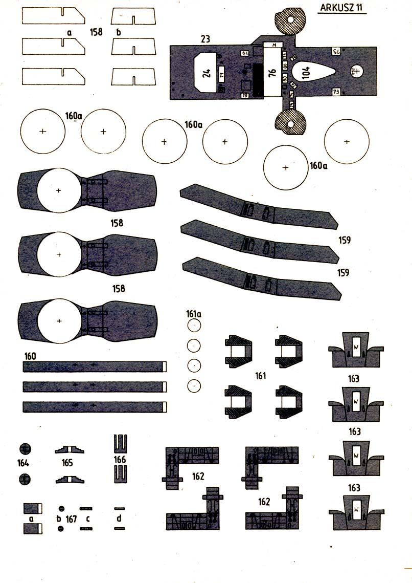 英国驱逐舰佩内洛普号船模平面图纸 JPG格式