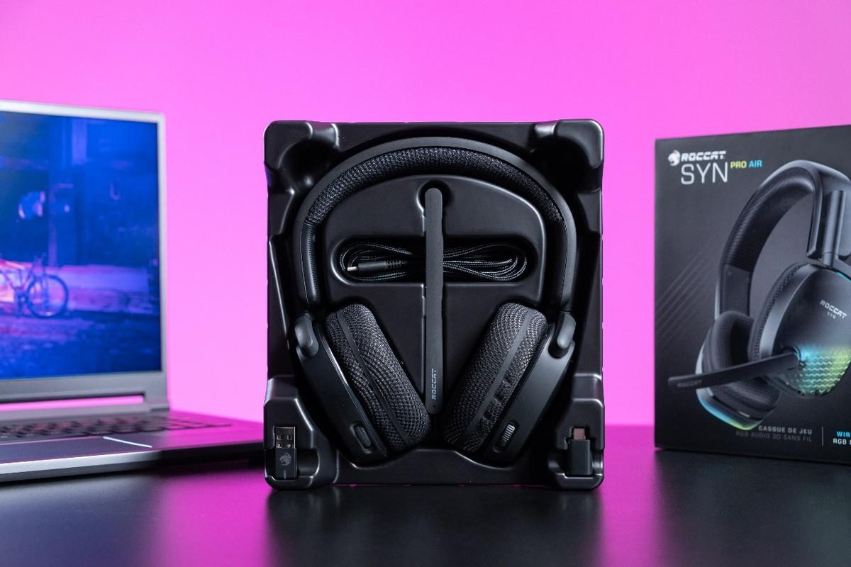 犀利时尚的游戏兵器:冰豹Roccat Syn Pro Air无线游戏耳机体验