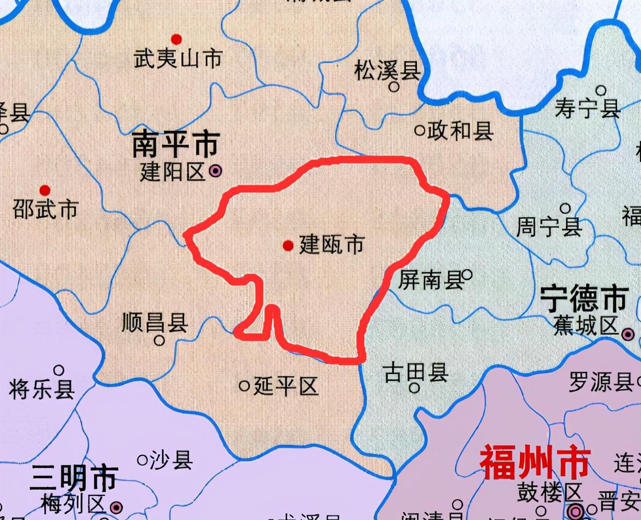"""福建第一大县:人口超55万,福建的""""建""""来自于此"""