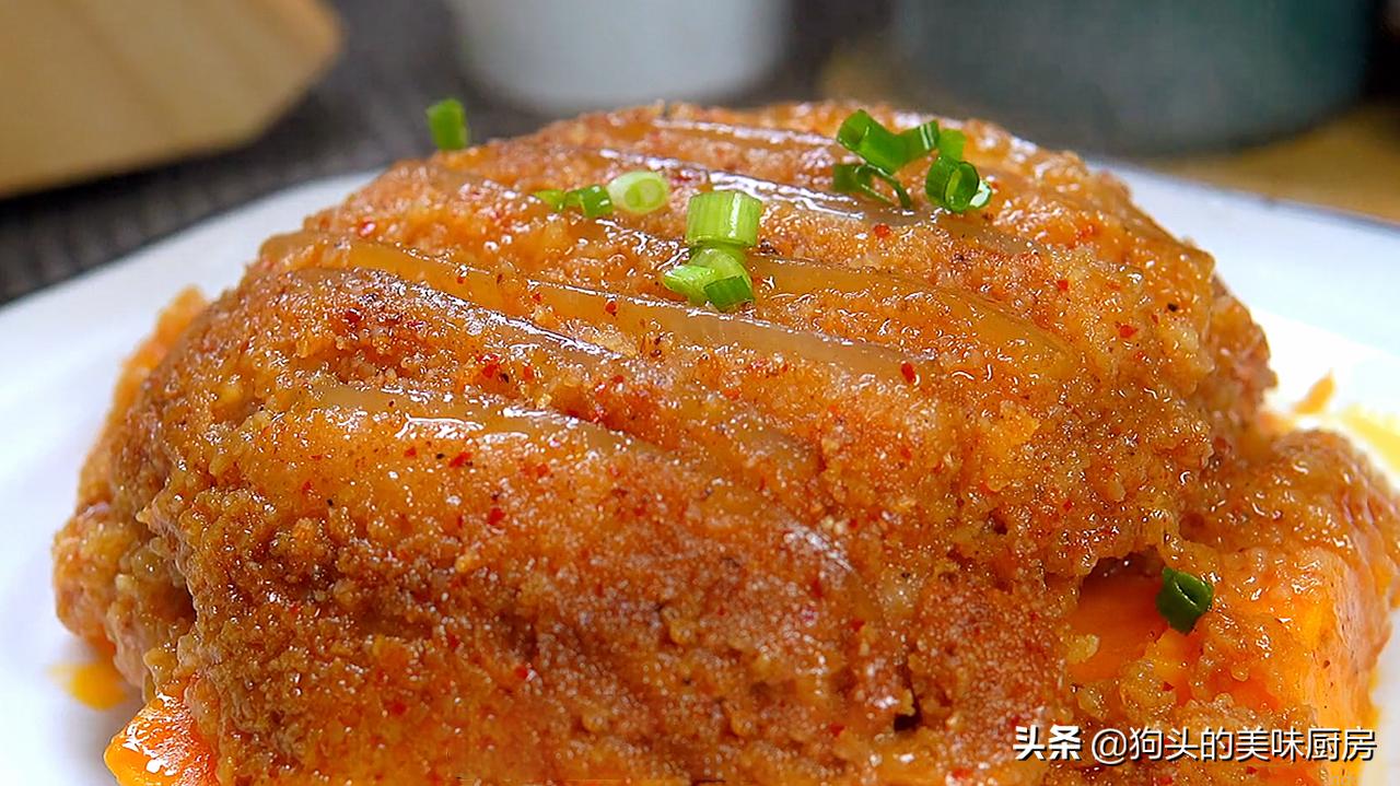五花肉不红烧了,教你秘制的做法,上锅一蒸,下饭又解馋,太香了 美食做法 第15张