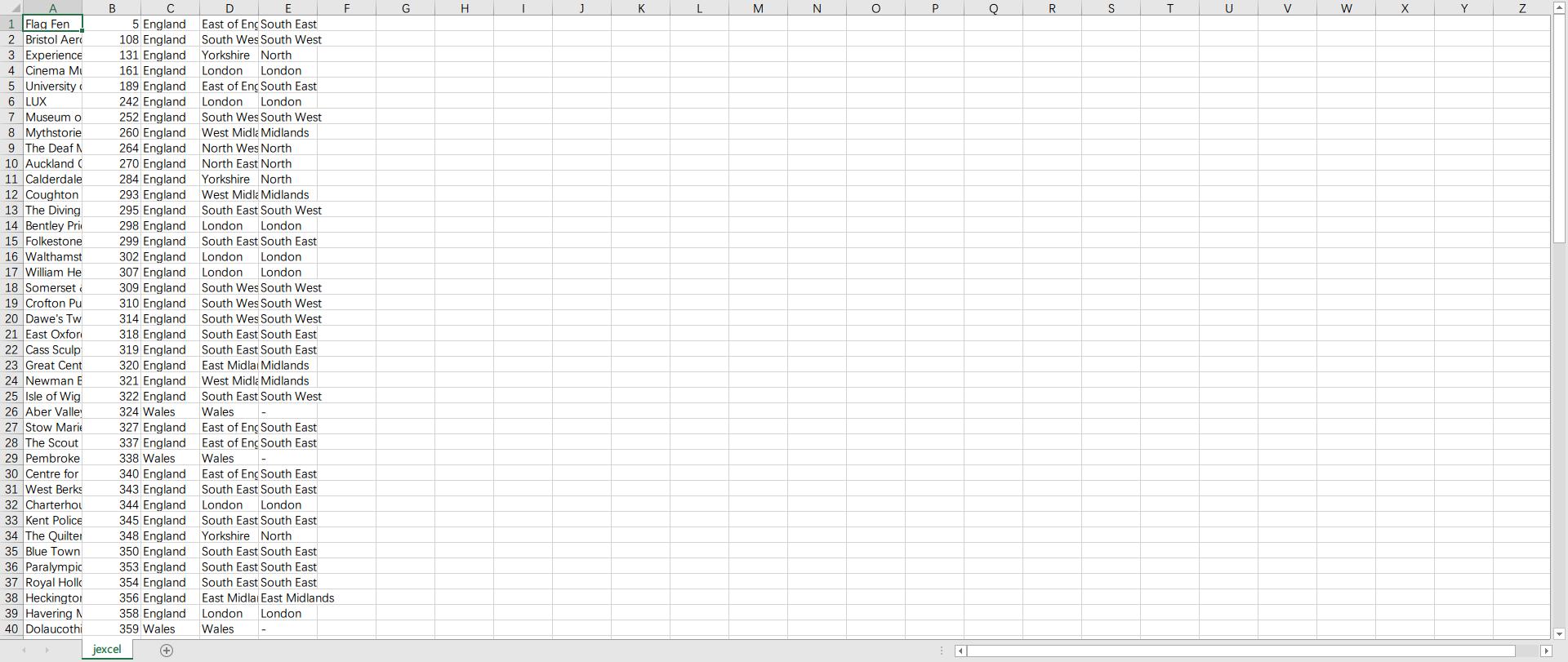 轻量级的原生JavaScript的Excel插件——JExcel