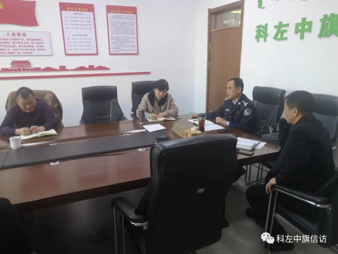 科左中旗政府副旗长、公安局局长林红伟 接待信访群众