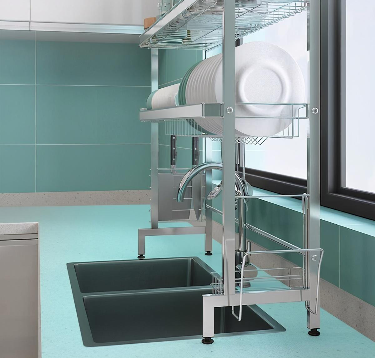 「爆款测评」拯救小厨房,卡贝水槽置物架测评