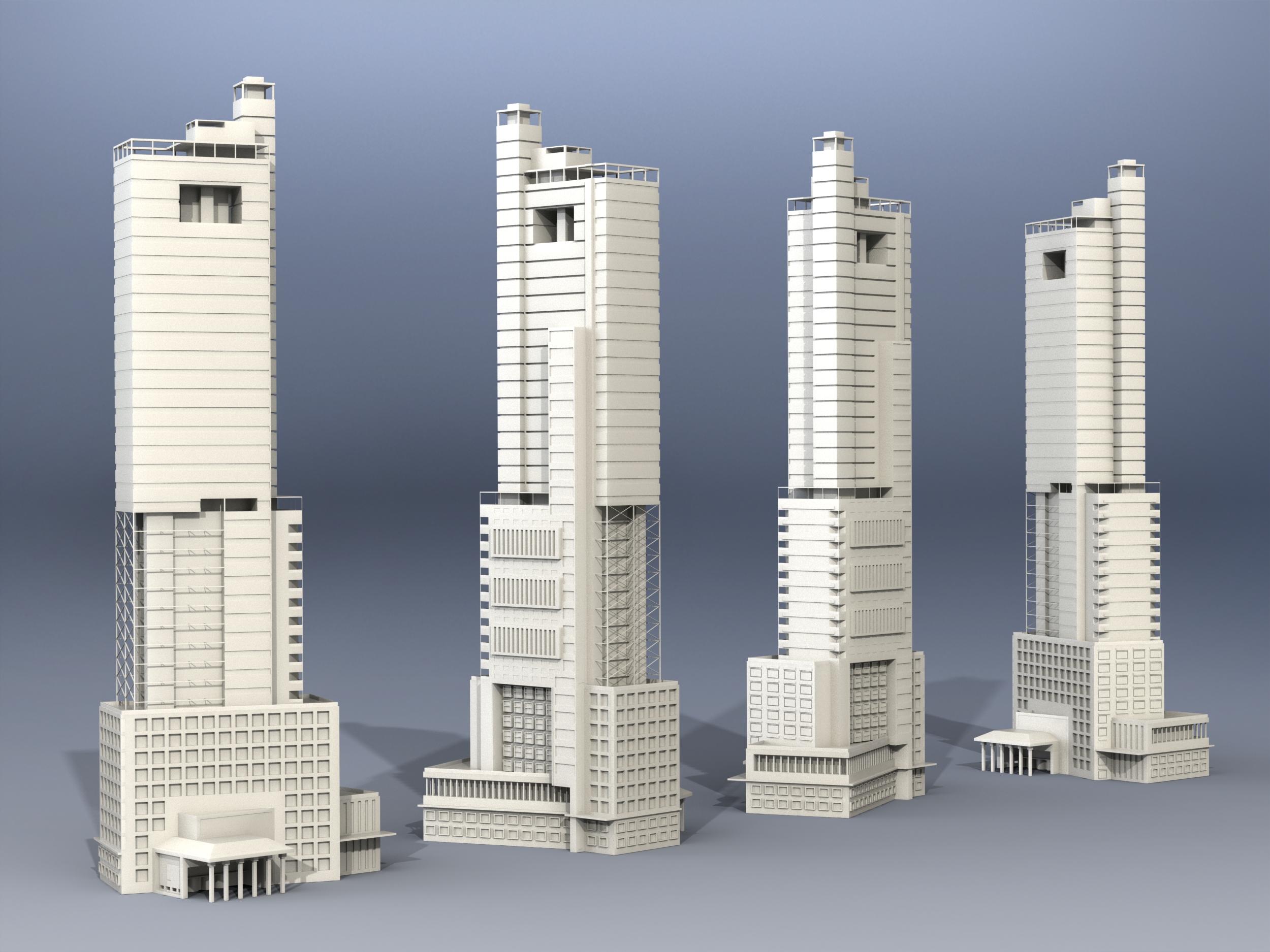 bishopslane摩天大楼模型3D图纸 Solidworks设计