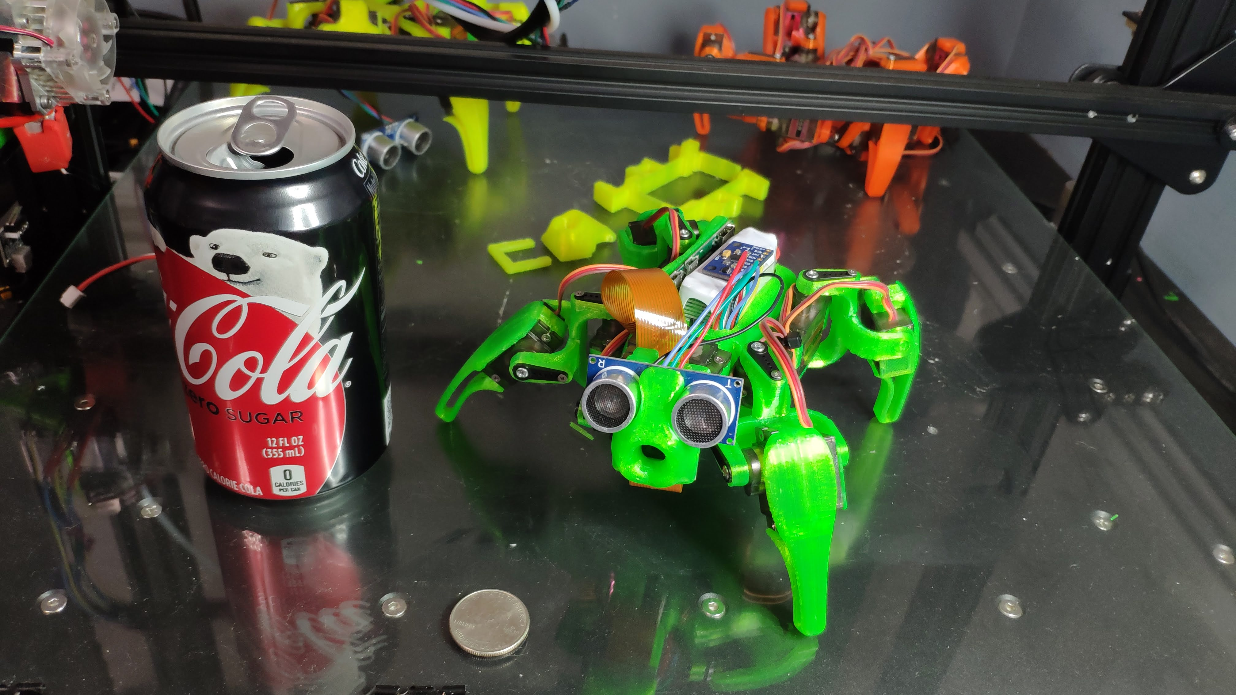 Todd the Quad四足玩具机器人3D打印图纸 Fusion 360 IGS STL格式