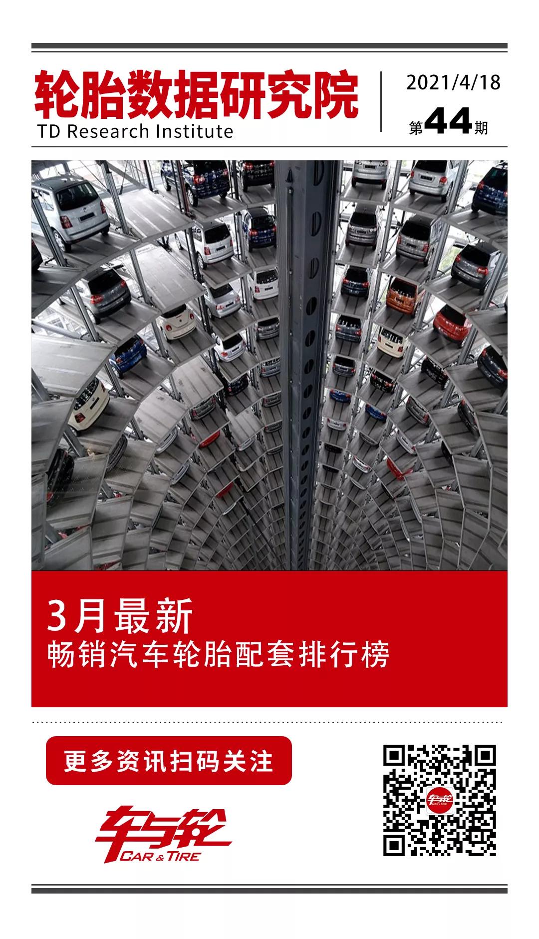 2013年3月汽车销量排行top20配套轮胎