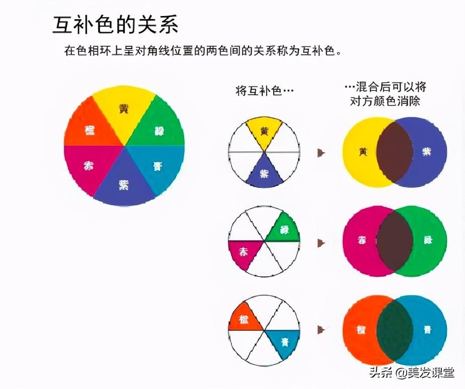 三原色四大板块中的对冲原理,学会了,轻松染出纯正的发色