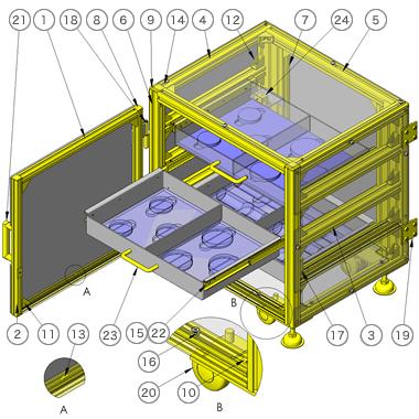 夹具收纳箱3D数模图纸 Solidworks设计 附STEP