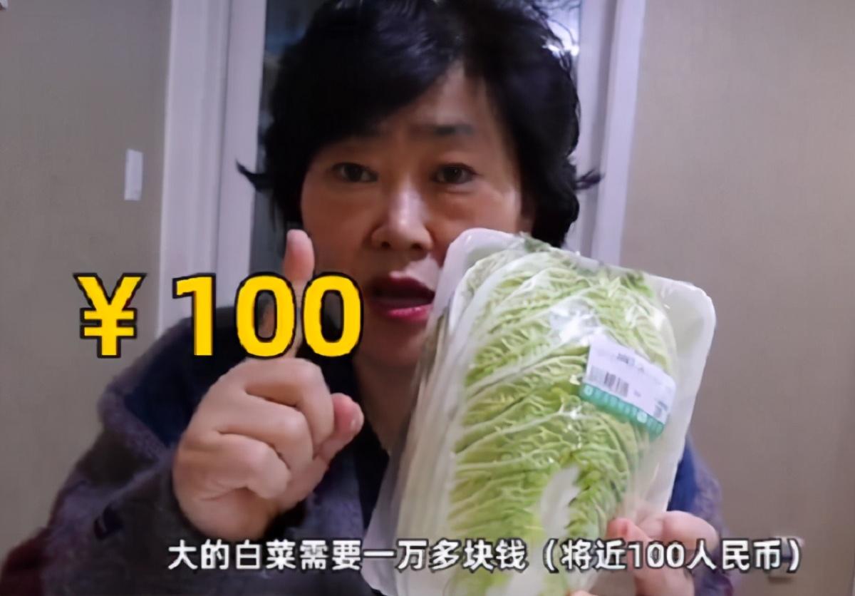 泡菜快吃不起了!韩国大妈吐槽韩国白菜,比中国贵10倍1颗79元