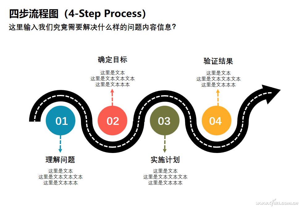 办公小技巧:PPT制作四步流程图