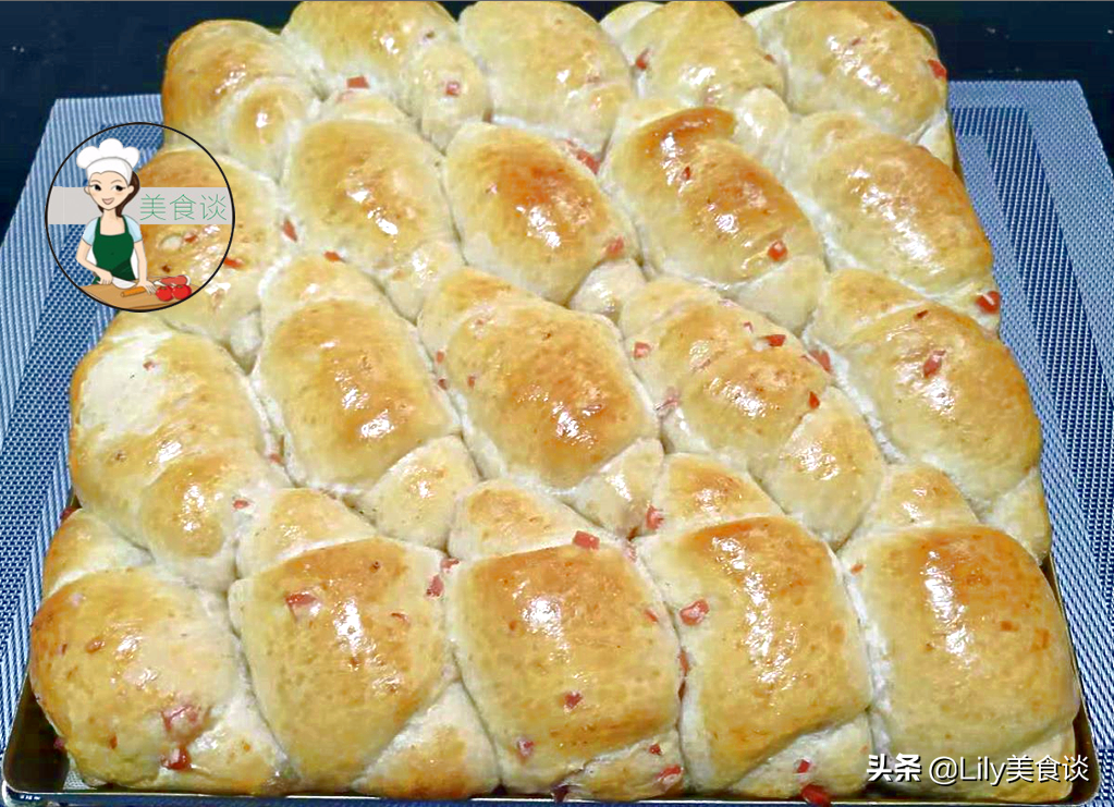火腿小面包做法步骤图 家人爱吃