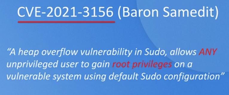sudo报严重缓冲区溢出漏洞,可致无差别提权