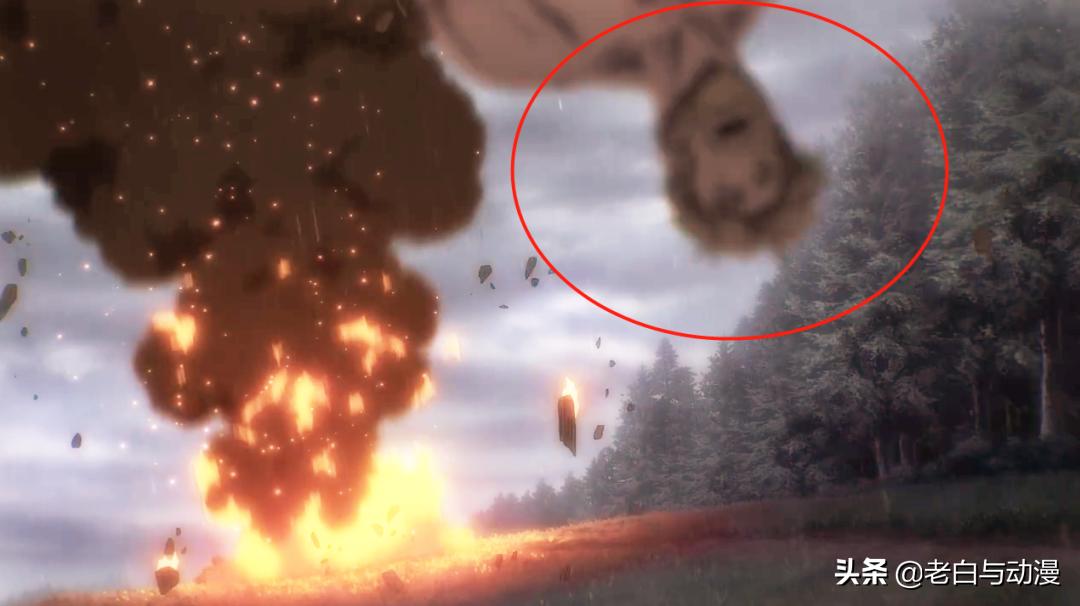 吉克拔下雷槍後,兵長被炸成重傷,那吉克狀況如何?