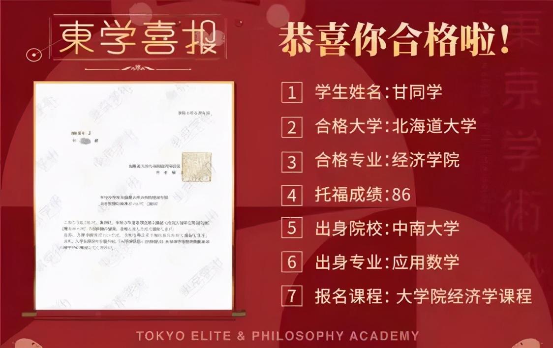 日本读研经济学前辈分享:没有日语成绩也能合格日本北海道大学?