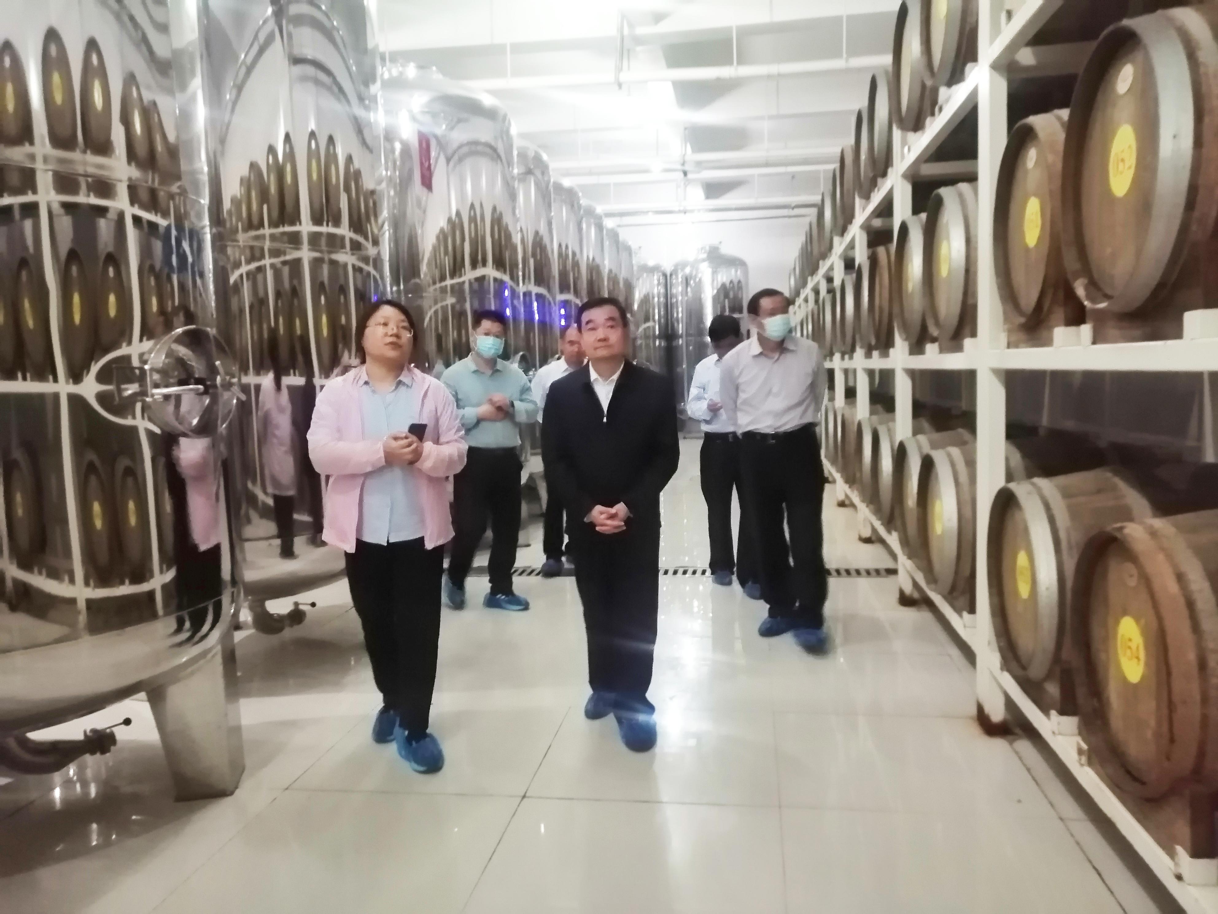 潍坊市委党史学习教育领导小组莅临皇尊庄园调研指导